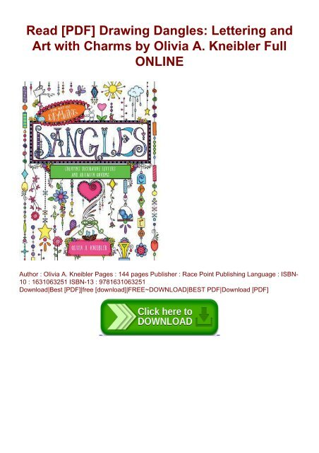 Read Pdf Drawing Dangles Lettering And Art With Charms By