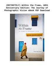 (DEFINITELY) Within the Frame, 10th Anniversary Edition: The Journey of Photographic Vision eBook PDF Download