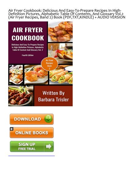 Pdf Free Air Fryer Cookbook Delicious