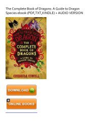 (SUPPORTED) [NEW] The Complete Book of Dragons: A Guide to Dragon Species eBook PDF Download