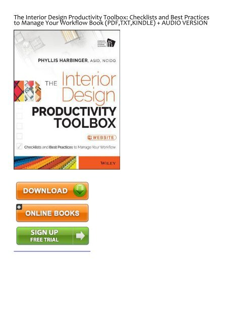 EXTRA) The Interior Design Productivity Toolbox Checklists