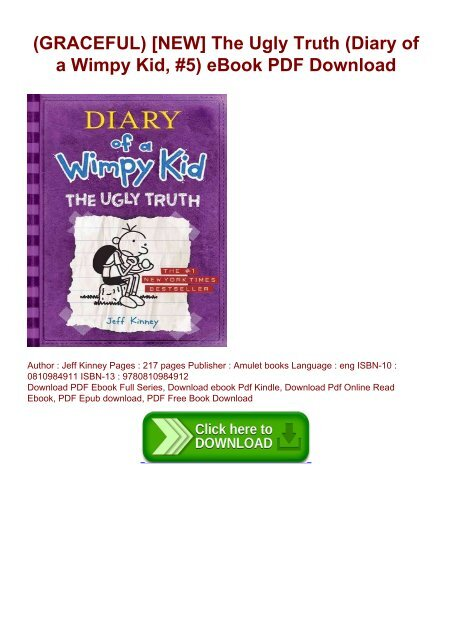 Graceful New The Ugly Truth Diary Of A Wimpy Kid 5 Ebook Pdf Download