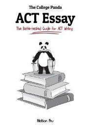 Read PDF The College Panda's ACT Essay: The Battle-Tested Guide for ACT Writing by Nielson Phu READ ONLINE