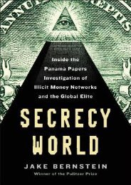 Best [PDF] Secrecy World: Inside the Panama Papers Investigation of Illicit Money Networks and the Global Elite by Jake  Bernstein EPUB PDF