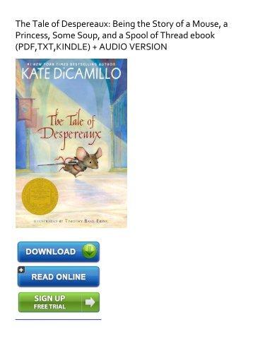 The Tale Of Despereaux Ebook