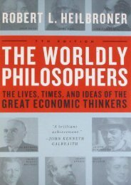 Download [PDF] The Worldly Philosophers by Robert L. Heilbroner TXT