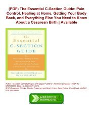 (PDF) The Essential C-Section Guide: Pain Control, Healing at Home, Getting Your Body Back, and Everything Else You Need to Know About a Cesarean Birth | Available