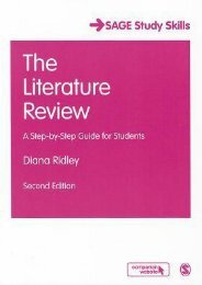 Read E-book The Literature Review: A Step-By-Step Guide for Students by Diana Ridley For Online
