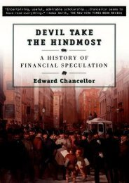 Download Free Devil Take the Hindmost: A History of Financial Speculation by Edward Chancellor Full Pages