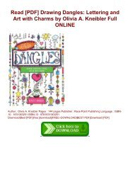 Read [PDF] Drawing Dangles: Lettering and Art with Charms by Olivia A. Kneibler Full ONLINE
