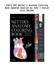 [GET] PDF Netter's Anatomy Coloring Book Updated Edition by John T Hansen Full ONLINE