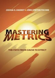 [FREE] [DOWNLOAD] Mastering 'metrics: The Path from Cause to Effect by Joshua D. Angrist Ebook Download