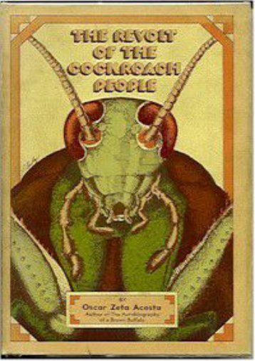 E-book download The revolt of the cockroach people by Oscar Zeta Acosta Full Books