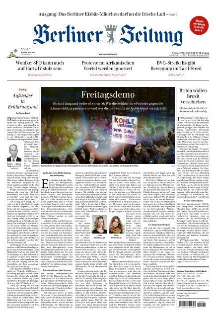 Berliner Zeitung 15.03.2019
