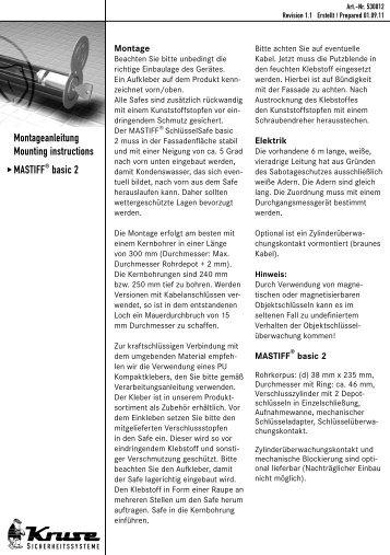 Montageanleitung Mounting instructions u MASTIFF ® basic 2