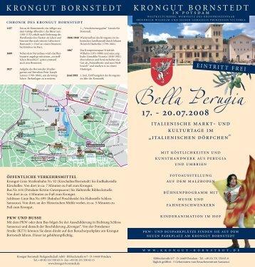 Bella Perugia - Krongut Bornstedt