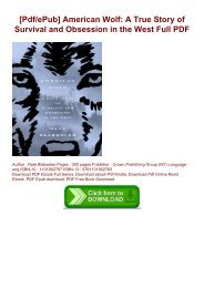 [Pdf/ePub] American Wolf: A True Story of Survival and Obsession in the West Full PDF