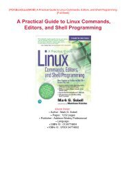DOWNLOAD PDF Read Online A Practical Guide to Linux Commands