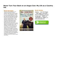(JOVIAL)(UPBEAT) Never Turn Your Back on an Angus Cow: My Life as a Country Vet ebook eBook PDF