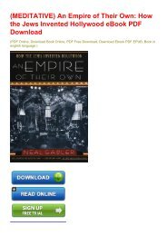 (MEDITATIVE) An Empire of Their Own: How the Jews Invented Hollywood eBook PDF Download