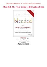 READ PDF Online PDF Blended: The Field Guide to Disrupting Class eBook PDF