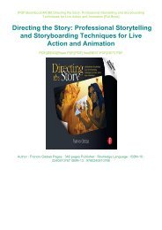 PDF DOWNLOAD Online PDF Directing the Story: Professional Storytelling and Storyboarding Techniques for Live Action and Animation eBook PDF