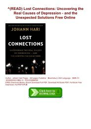 ^(READ) Lost Connections: Uncovering the Real Causes of Depression - and the Unexpected Solutions Free Online