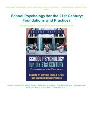 READ PDF Online PDF School Psychology for the 21st Century: Foundations and Practices Full Pages
