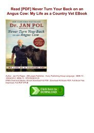 Read [PDF] Never Turn Your Back on an Angus Cow: My Life as a Country Vet EBook