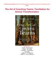 READ PDF Online PDF The Art of Coaching Teams: Facilitation for School Transformation Full Pages