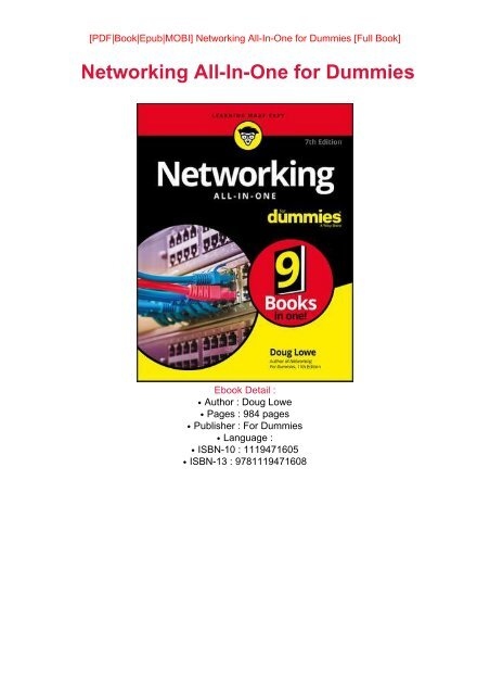 READ PDF Online PDF Networking All-In-One for Dummies eBook PDF