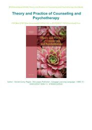 DOWNLOAD PDF Online Theory and Practice of Counseling and Psychotherapy PDF Full