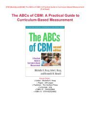 DOWNLOAD PDF Free eBook The ABCs of CBM: A Practical Guide to Curriculum-Based Measurement Read Online