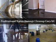 Professional Water Damage Cleanup Cary NC