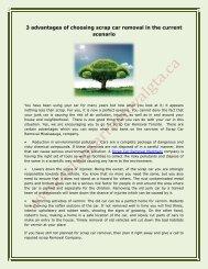 3 advantages of choosing scrap car removal in the current scenario