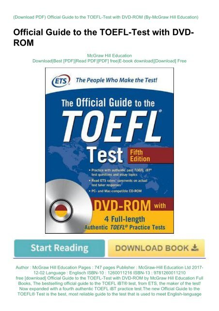the official guide to toefl free download