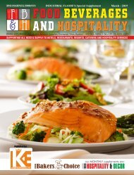 Food Beverages And Hospitality March 2019