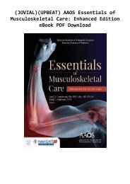 (JOVIAL)(UPBEAT) AAOS Essentials of Musculoskeletal Care: Enhanced Edition eBook PDF Download