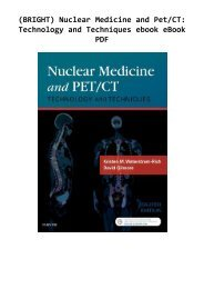 (BRIGHT) Nuclear Medicine and Pet/CT: Technology and Techniques ebook eBook PDF