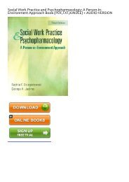 free [download] Social Work Practice and Psychopharmacology: A Person-In-Environment Approach by Sophia F. Dziegielewski Full Books