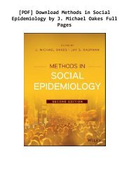 -PDF-Download-Methods-in-Social-Epidemiology-by-J-Michael-Oakes-Full-Pages-