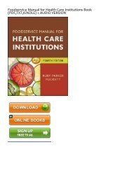 free [download] Foodservice Manual for Health Care Institutions by Ruby Parker Puckett FOR ANY DEVICE