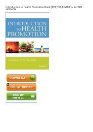 (DARING) Introduction to Health Promotion ebook eBook PDF