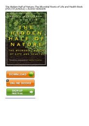(ALWAYS) The Hidden Half of Nature: The Microbial Roots of Life and Health eBook PDF Download