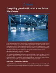 Everything you should know about Smart Warehouse