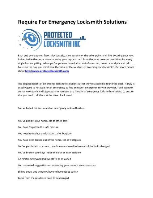 6 PROTECTED LOCKSMITH INC