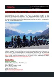 Motorbike Tour To India-Motorcycle Expeditions
