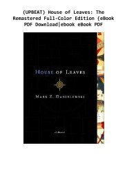 (UPBEAT) House of Leaves: The Remastered Full-Color Edition {eBook PDF Download|ebook eBook PDF