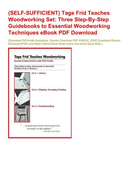 Tage Frid Teaches Woodworking, Book 2  Shaping, Veneering, Finishing
