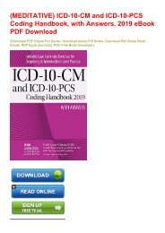 (MEDITATIVE) ICD-10-CM and ICD-10-PCS Coding Handbook, with Answers, 2019 eBook PDF Download